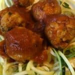 Chicken Curry Meatballs with Zoodles