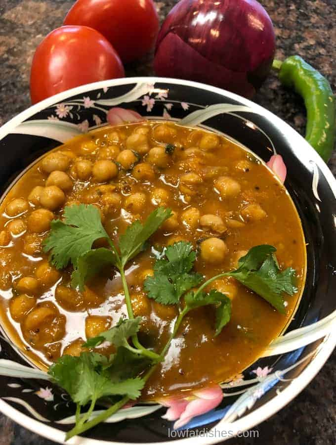 Enjoy this zesty instant pot Chole prepared in less than 40 minutes.
